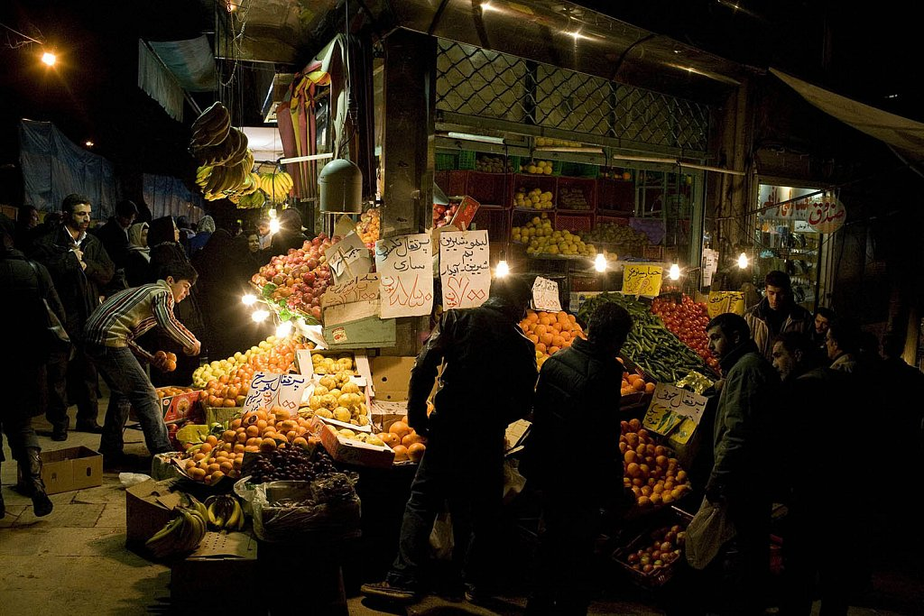 Market in Tajrish quarter, northern Tehran