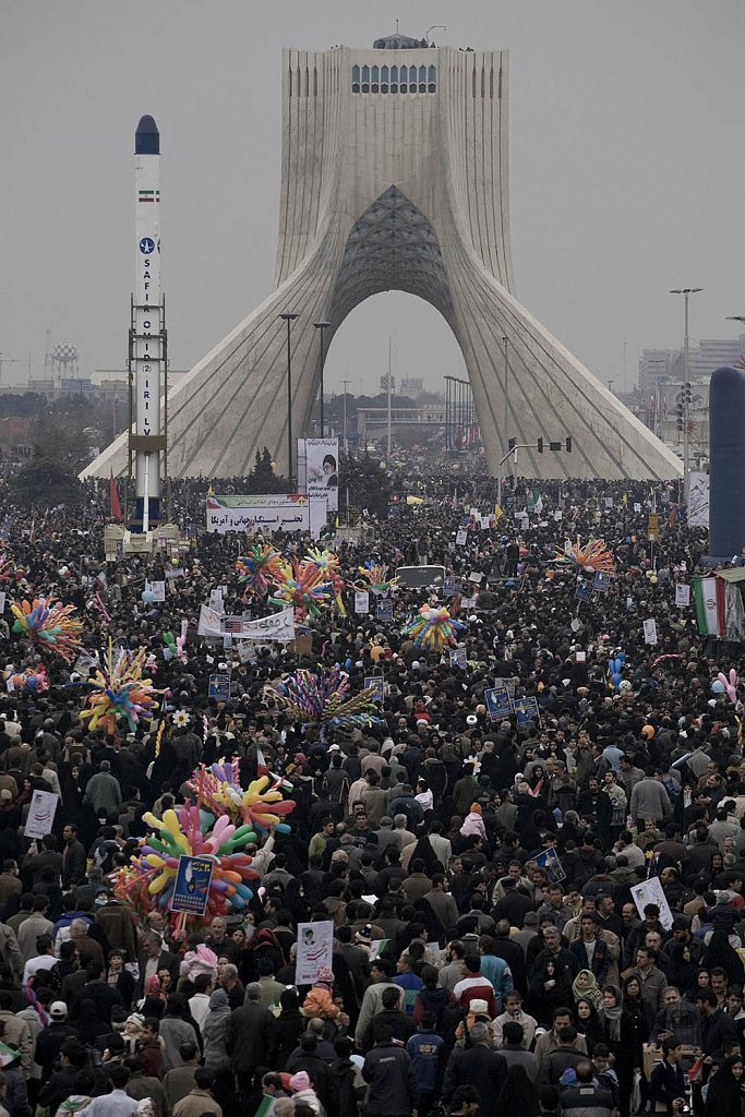 People celebrates the 30 anniversary of the Islamic Revolution i