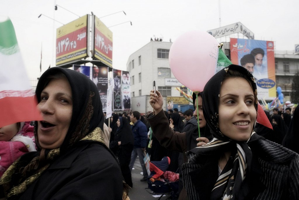 Tehran. People celebrates the 30 anniversary of the Islamic Revo