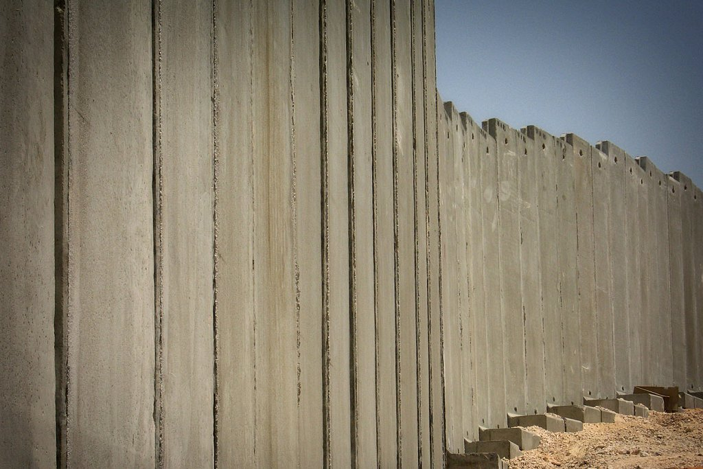 The separation wall near Ramallah
