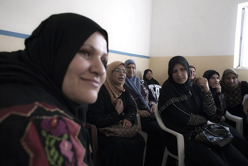 Women farmers cooperative assembly in Hebron