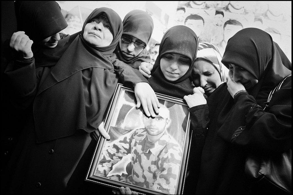 Hezbollah funerals in Beirut suburbs. Conflict in Lebanon betwee